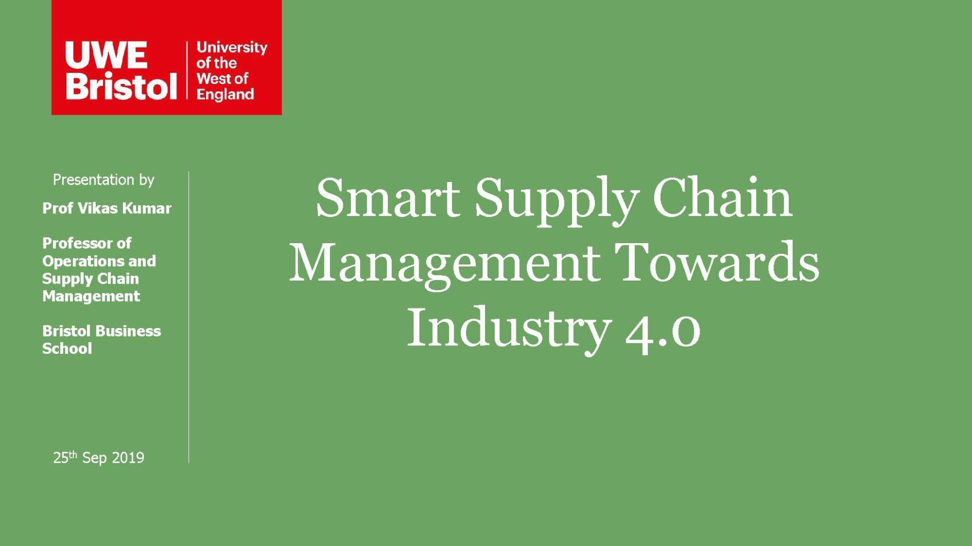 Smart Supply Chain Management Towards Industry 4.0